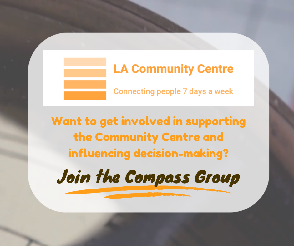 About joining the Compass Group to support the Community Centre and influencing decision-making
